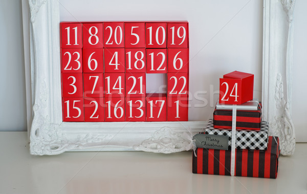 Advent Calendar and Christmas Presents Stock photo © stickasa