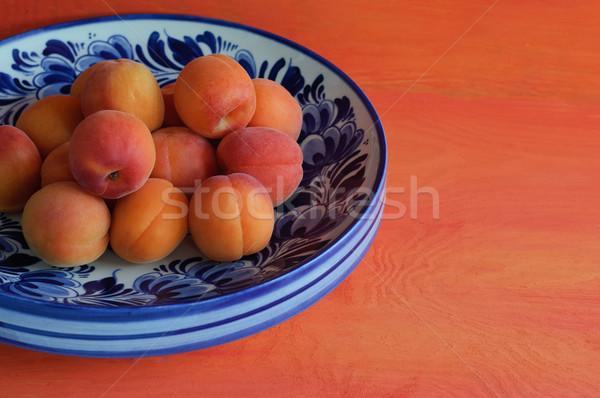 чаши синий цветочный цвета свежие блюдо Сток-фото © stickasa