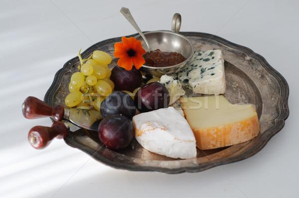 チーズ プレート 秋 果物 フルーツ ブドウ ストックフォト © stickasa