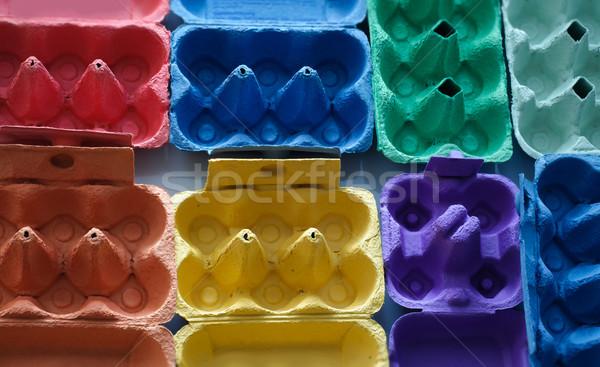 Kolorowy jaj papieru polu zielone niebieski Zdjęcia stock © stickasa