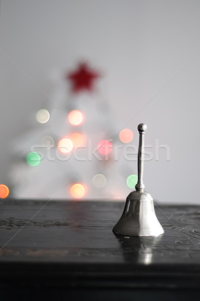 Christmas dzwon choinka tekstury zimą światła Zdjęcia stock © stickasa