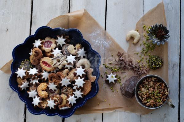 Zdjęcia stock: Christmas · cookie · składniki · star · uroczystości · cukru