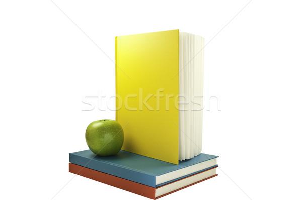 один вертикальный книгах книга Top два Сток-фото © stockfrank