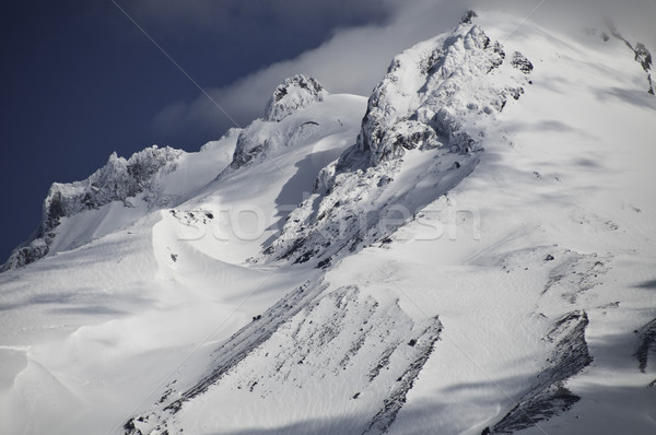 2009 közelkép kilátás éles hó hegy Stock fotó © stockfrank