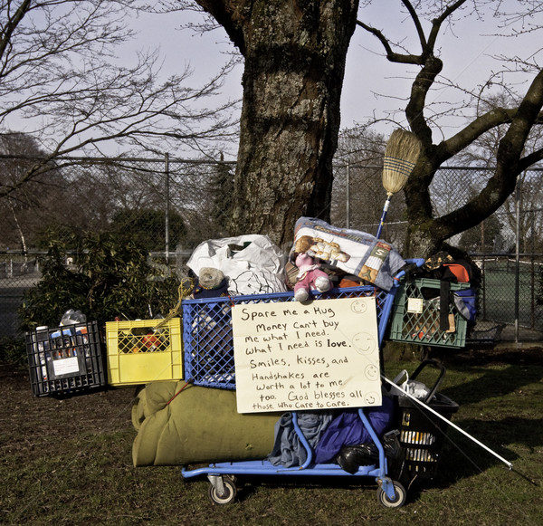 простой жизни бездомным бедные Сток-фото © stockfrank