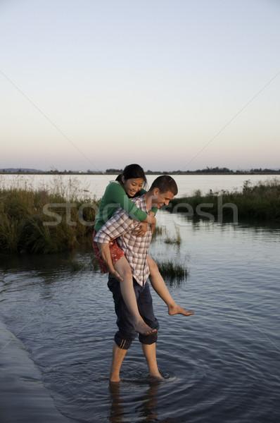 девушки мальчики назад женщину человека Сток-фото © stockfrank