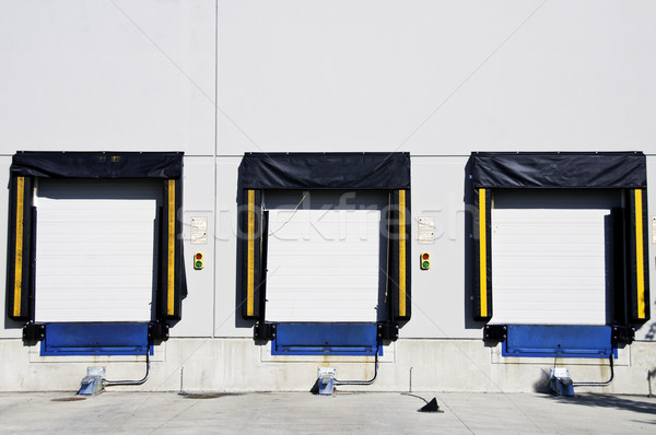 Three freight doors Stock photo © stockfrank