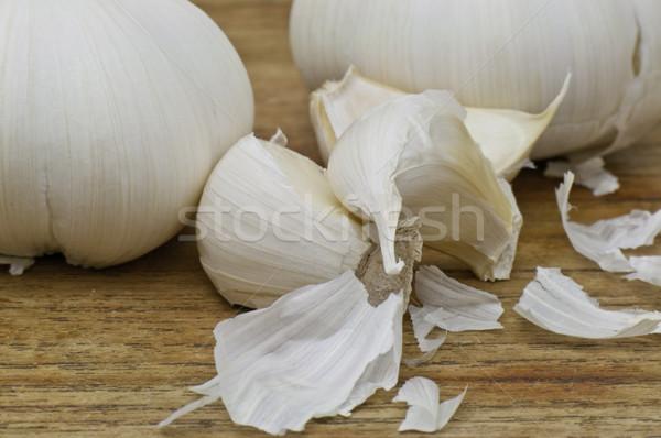белый чеснока макроса фото Top Сток-фото © stockfrank