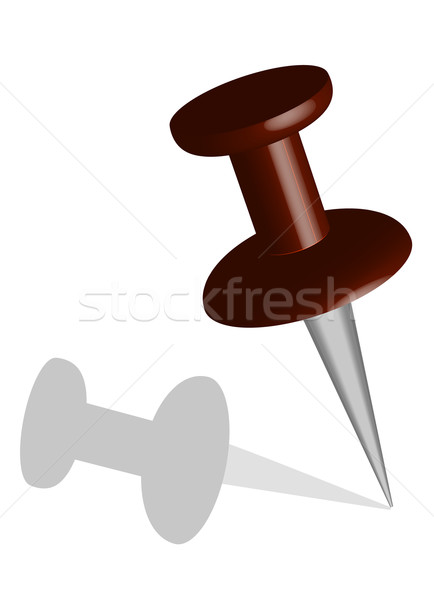 Short vector pushpin Stock photo © stockfrank