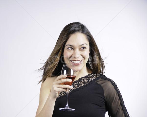 женщину молодые Lady стекла Сток-фото © stockfrank