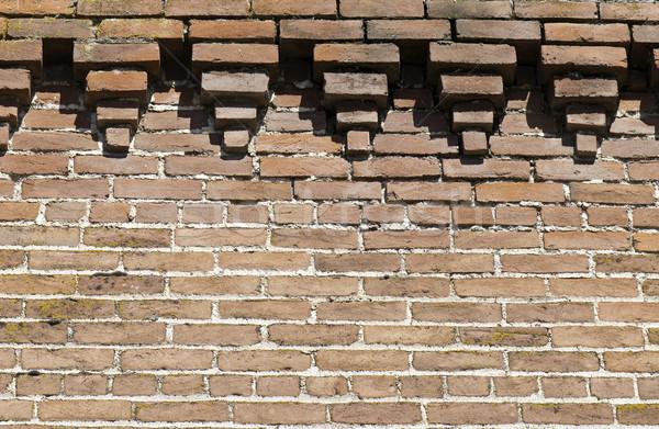 кирпичная стена текстуры стены фон кирпичных грязные Сток-фото © stockfrank