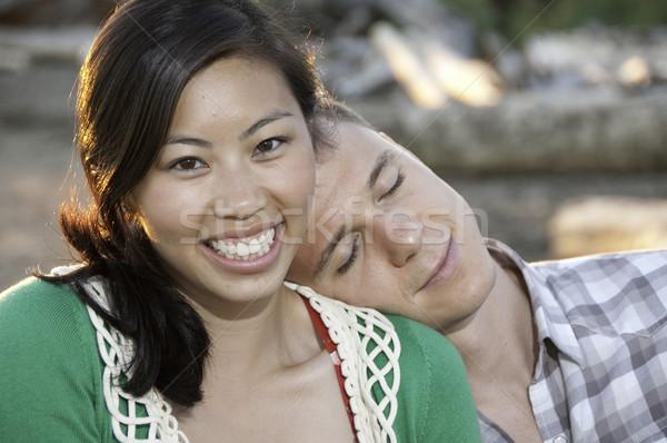 молодые китайский девушки голову Сток-фото © stockfrank
