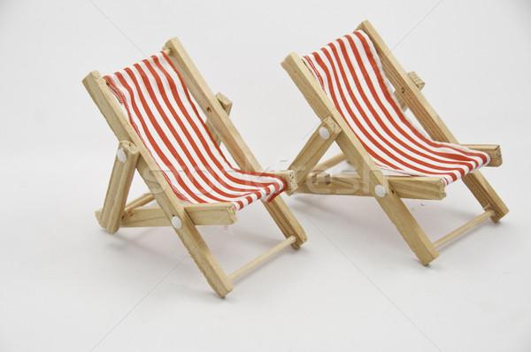 стульев два белый ткань Сток-фото © stockfrank
