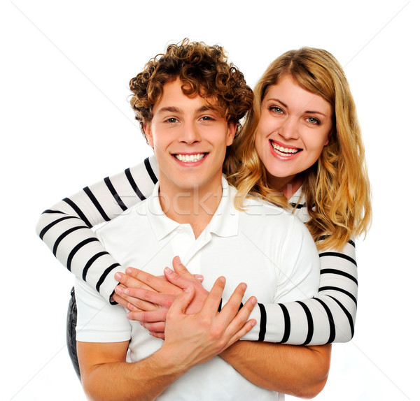 Attractive couple being playful Stock photo © stockyimages