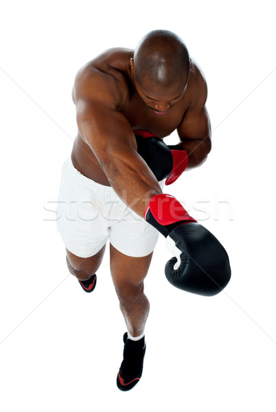 Attractive black male boxer Stock photo © stockyimages