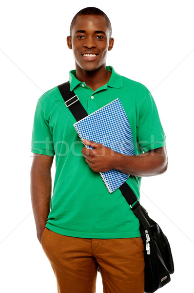 Stock photo: Its study time. Young african student