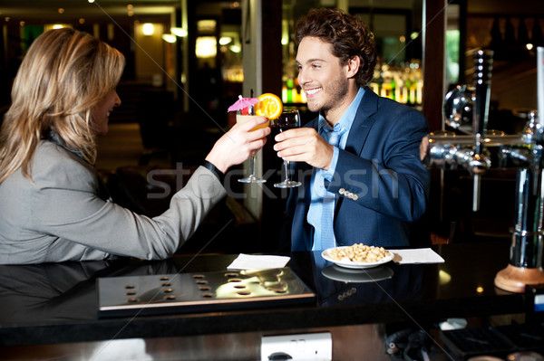 Cheers to our business success Stock photo © stockyimages