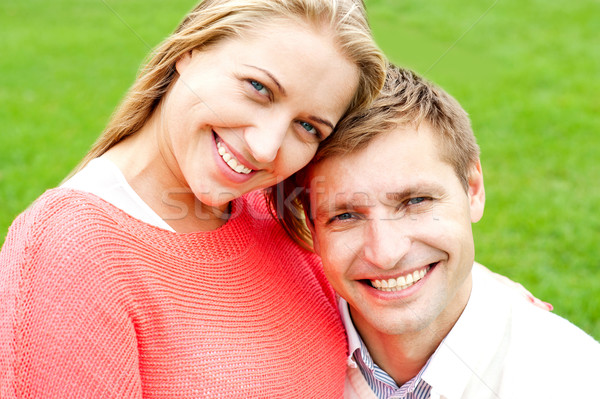 Close up shot of attractive love couple Stock photo © stockyimages