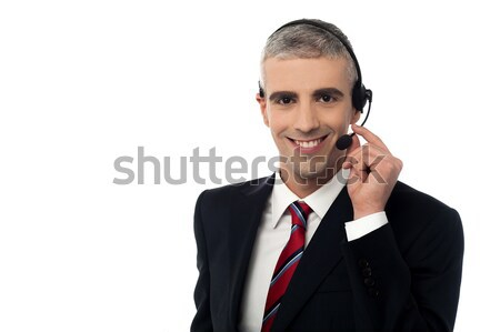 Happy can i help you! Stock photo © stockyimages