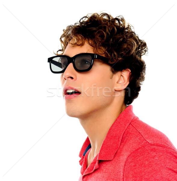 Jóképű fickó másfelé néz napszemüveg férfi modell Stock fotó © stockyimages