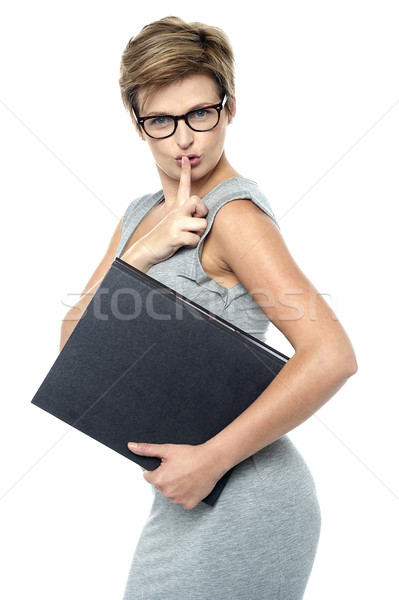 Shhh.. Keep it a secret Stock photo © stockyimages