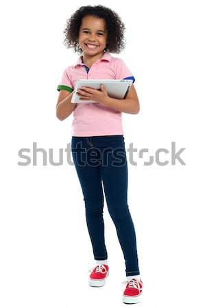 Birincil çocuk gülen atış Stok fotoğraf © stockyimages