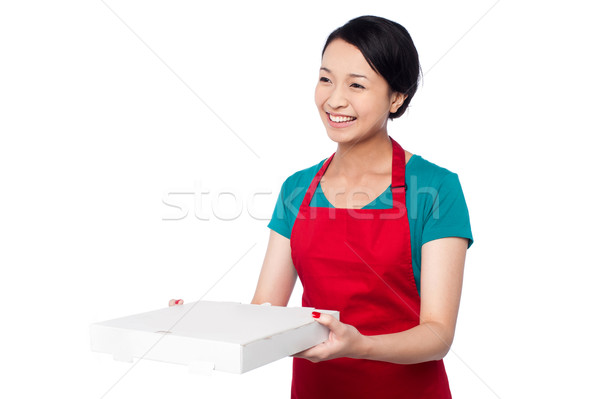 Stock photo: Here is your order sir!
