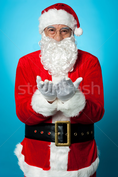 Santa praying peace and happiness for all Stock photo © stockyimages