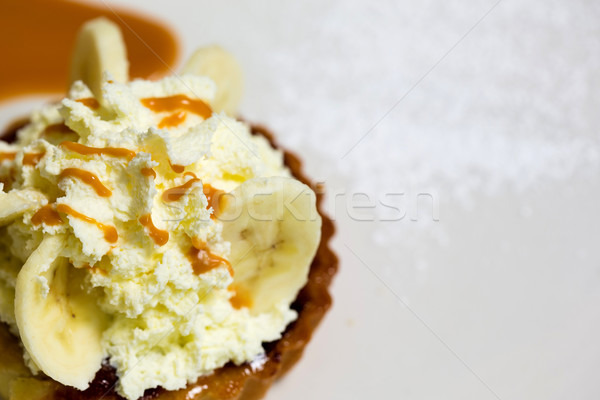 A fresh banana cream pie Stock photo © stockyimages