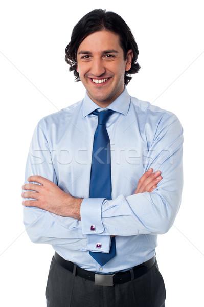 Yakışıklı gülen iş yürütme erkek profesyonel Stok fotoğraf © stockyimages