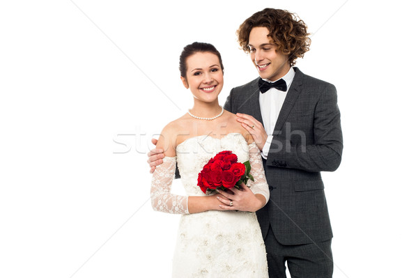 Lovely young newlyweds Stock photo © stockyimages