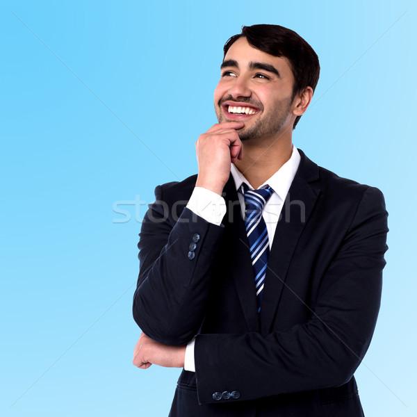 Businessman thinking something Stock photo © stockyimages
