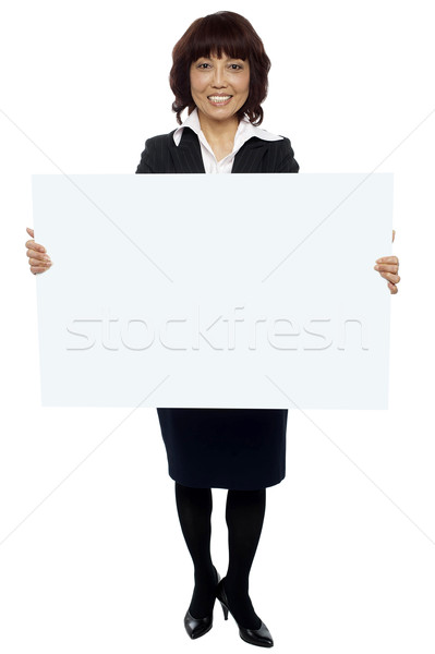 Business ad hierher isoliert erfahren asian Stock foto © stockyimages