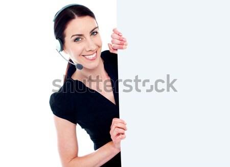Client vendite target raggiunto sorridere Foto d'archivio © stockyimages