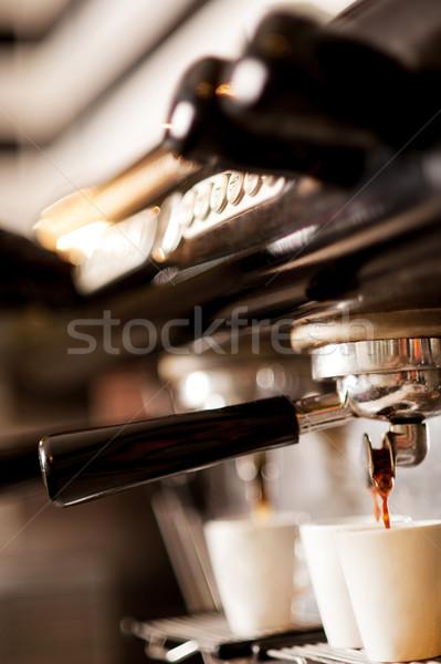 Coffee machine espresso Stock photo © stockyimages