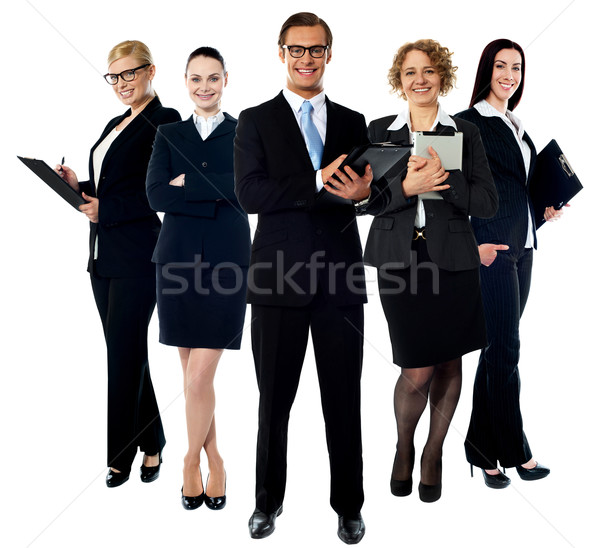 Elite young smiling business team Stock photo © stockyimages