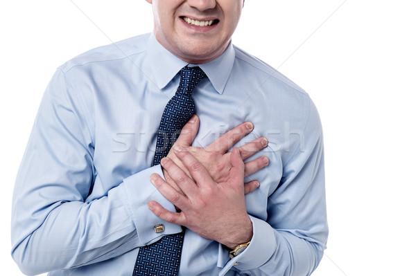 Homme crise cardiaque image affaires poitrine douleur Photo stock © stockyimages