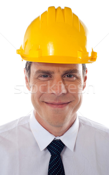 An architect wearing yellow safety helmet Stock photo © stockyimages