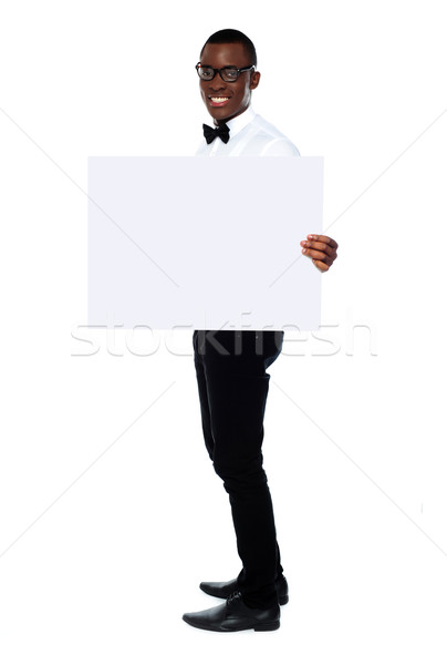 Male representative showing billboard banner ad Stock photo © stockyimages