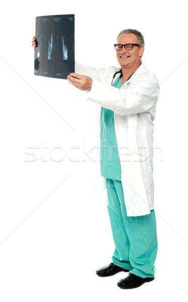 выстрел хирург Xray докладе улыбаясь Сток-фото © stockyimages