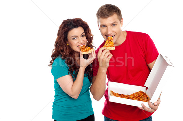 Liebenswert Pizza Stock foto © stockyimages