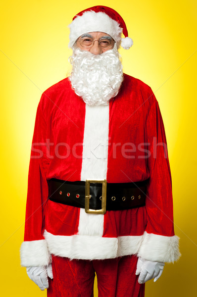 Isolated aged male dresses in Santa attire Stock photo © stockyimages