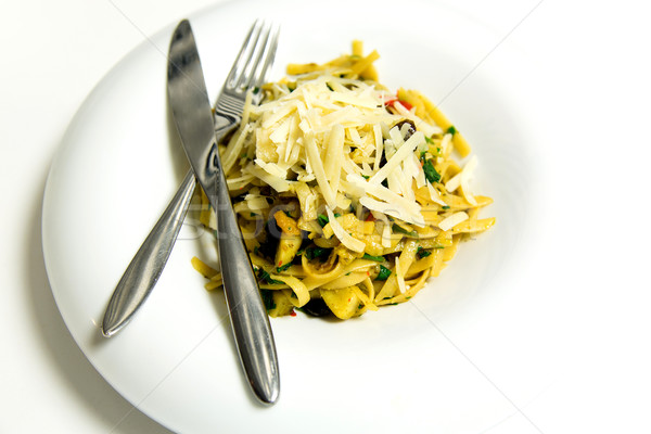 Pasta fettuccine bolognese Stock photo © stockyimages