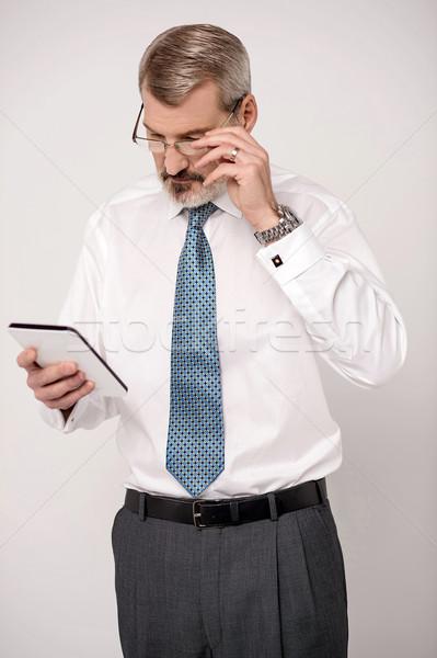 Rossz hírek komoly üzlet igazgató néz digitális Stock fotó © stockyimages