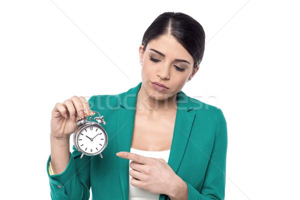 Altijd laat kantoor triest corporate vrouw Stockfoto © stockyimages