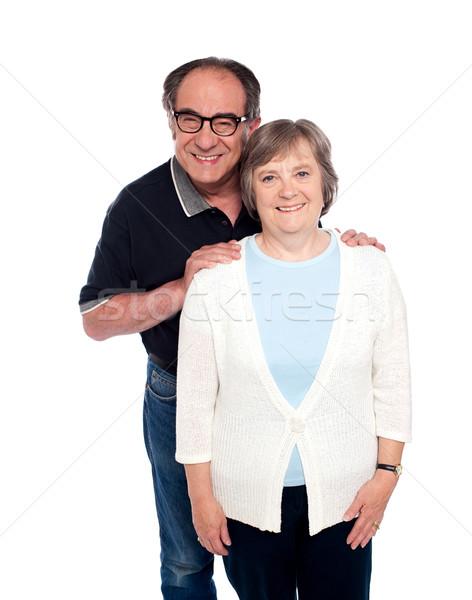 Portret uśmiechnięty para miłości odizolowany Zdjęcia stock © stockyimages