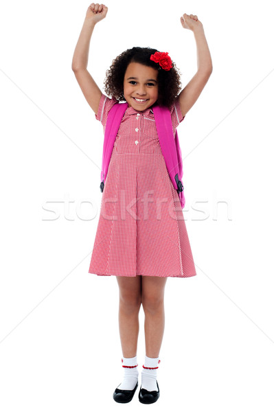 Enthusiastic elementary school girl Stock photo © stockyimages