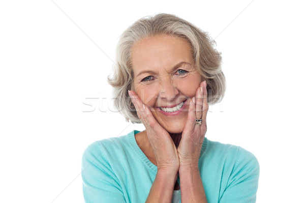 Portrait of a happy senior citizen Stock photo © stockyimages