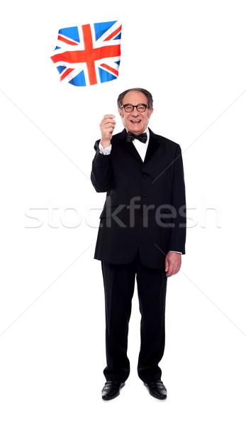 Full length photo of senior Britisher Stock photo © stockyimages