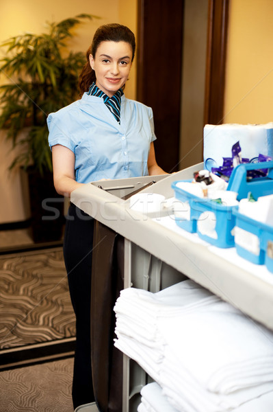 Femminile executive cart Foto d'archivio © stockyimages